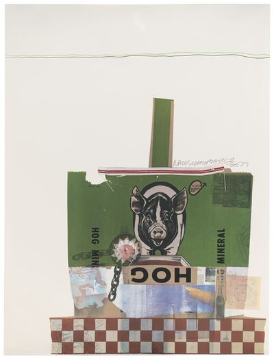 Robert Rauschenberg, 'Hog Chow (Chow Bags)', 1977