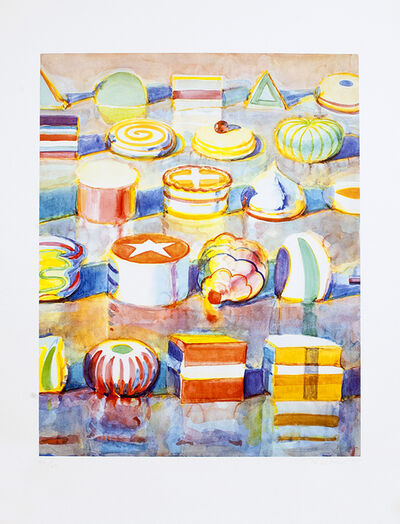 Wayne Thiebaud, 'Display Rows', 1990