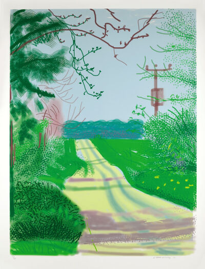 David Hockney, 'The Arrival of Spring in Woldgate, East Yorkshire in 2011 - 23 April 2011', 2011