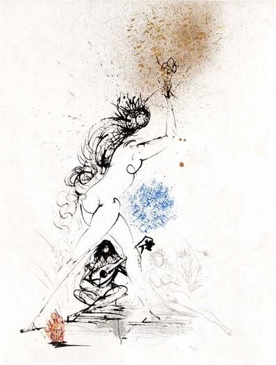 Salvador Dalí, 'Ronsard Suite: Woman with Torch', 1968