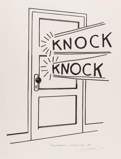 Roy Lichtenstein, 'Knock Knock (Corlett App.8)', 1975