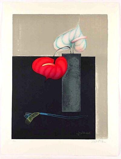 Paul Wunderlich, 'Red and White Anthurium', 1999