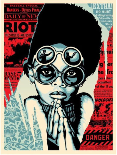 Shepard Fairey, 'Late Hour Riot', 2017