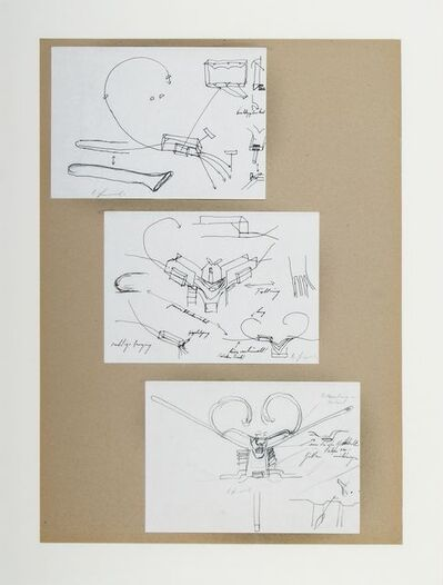 Bruno Gironcoli, 'Ohne Titel (passiver Schneckenwinkel)', ca. 1990