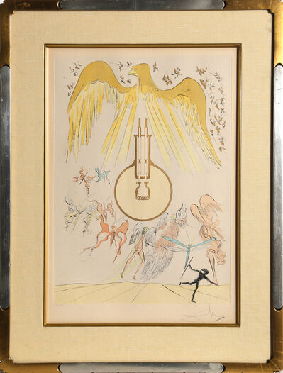 Salvador Dalí, 'L'Ampoule Incandesence from Homage to Leonardo Da Vinci', 1975