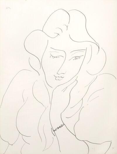 Henri Matisse, 'Jeune femme au bracelet', executed in Vence in 1944.