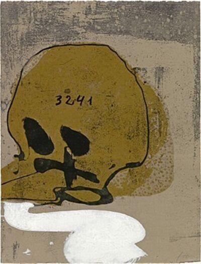 Antoni Tàpies, 'Crani amb xifres', 1992