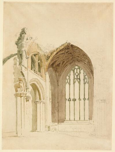 Thomas Girtin, 'Melrose Abbey: The East Window', 1800