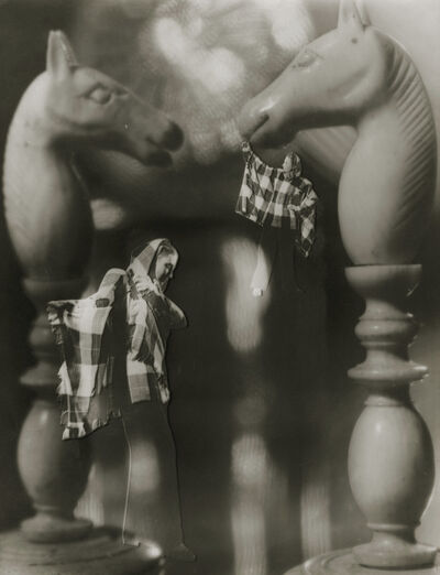 François Kollar, 'Photomontage with Chess Pieces and Woman', ca. 1946