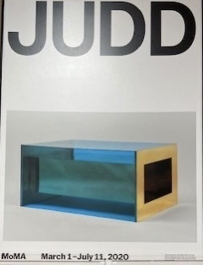 Donald Judd, 'Donald  Judd MOMA Retrospective Musuem Poster, SOLD OUT', 2020