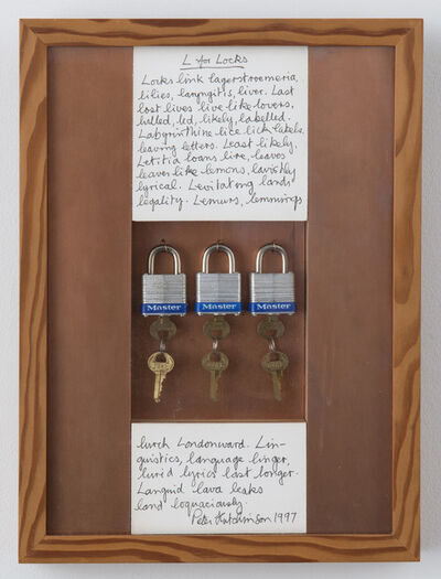 Peter Arthur Hutchinson, 'L for Locks', 1997