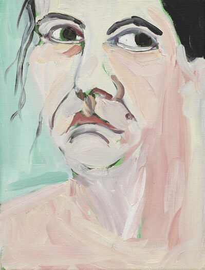 Chantal Joffe, 'Self-Portrait I, October', 2018