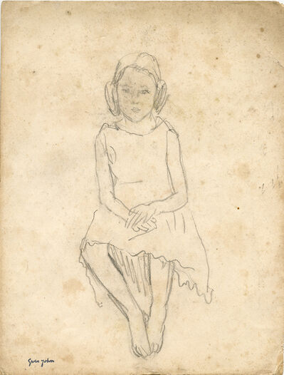Gwen John, 'Full Length Study of Little Girl Seated, Hands in Lap', Probably executed in the late 1910s