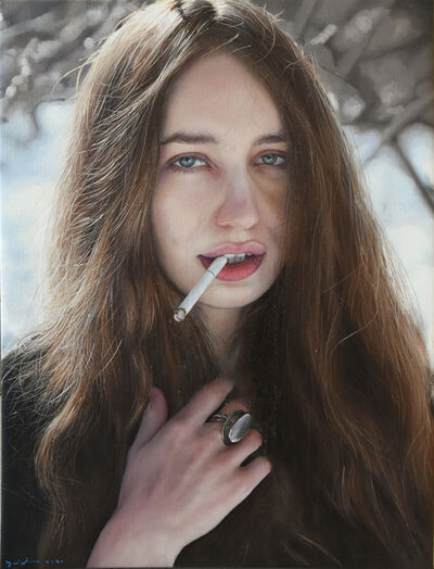 Yigal Ozeri, 'Untitled; Lizzy', 2016
