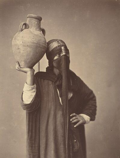 Félix Bonfils, 'Porteuse d'eau au Caire [Water Carrier in Cairo]', ca. 1870