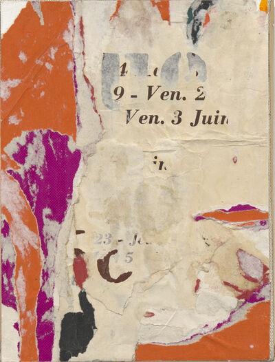 Jacques Villeglé, 'Quai de la Bastille', juin 1966