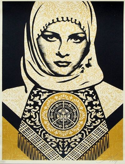 Shepard Fairey, 'Arab Woman Gold', 2006