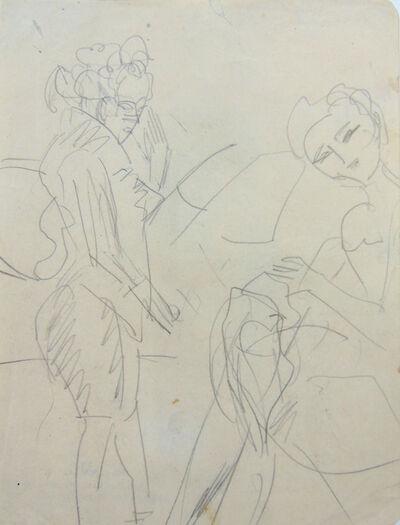 Ernst Ludwig Kirchner, 'Standing Woman and Sewing Girl | Stehende Frau und nähendes Mädchen', ca. 1920