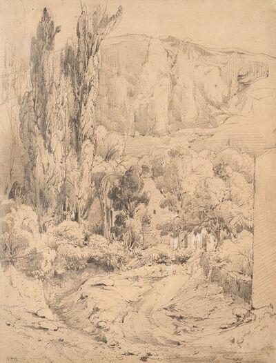 Théodore Rousseau, 'Landscape in the Auvergne', ca. 1830