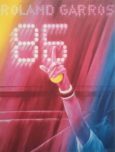 Jacques Monory, 'Roland Garros', 1985