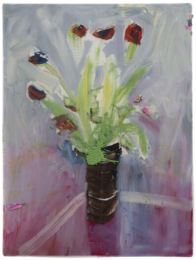 Darius Yektai, 'Mauve Tulips on Glass Table', 2020