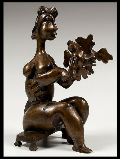 Alexandra Nechita, 'Alexandra NECHITA BRONZE SCULPTURE Let There Be Peace Signed Petite Picasso Art', 21st Century