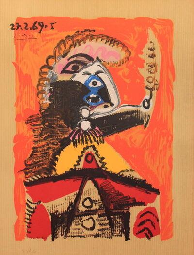 Pablo Picasso, 'Portrait Imaginair 27--2-69 I', 1970
