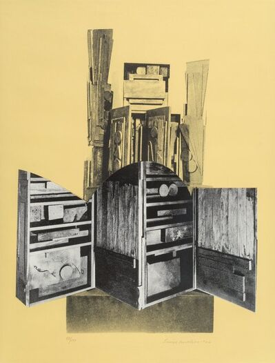 Louise Nevelson, 'Untitled, from Facade Portfolio (four works)', 1966