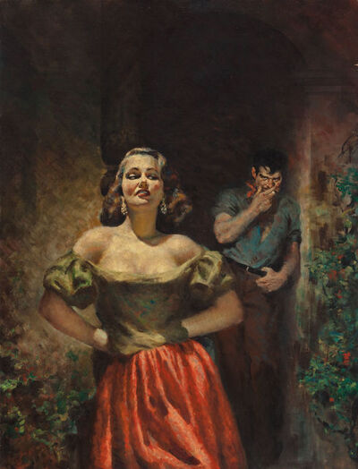 Raymond Johnson, 'The Naked Rich, Paperback Cover', 1953