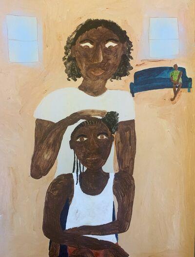 Marcus Leslie Singleton, 'Girl Getting Hair Braided', 2020