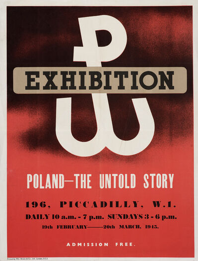 Unknown, 'Poland Uprising Exhibition Poster', 1945