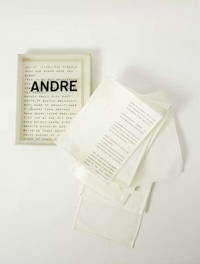 Carl Andre, 'Andre | Manchengladback, Stadtisches Museum', 1968