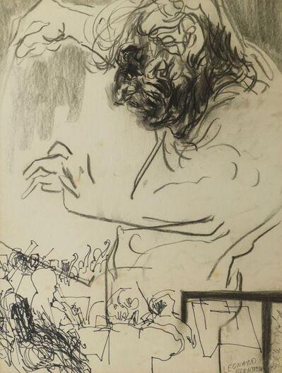 Feliks Topolski, 'Sketch of Leonard Bernstein'