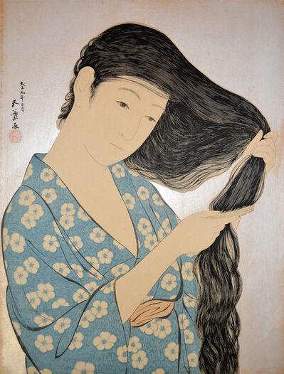 Goyo Hashiguchi, 'Woman Combing Her Hair ', 1920