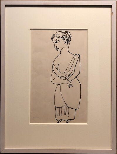 Andy Warhol, 'Standing Female Figure', ca. 1955