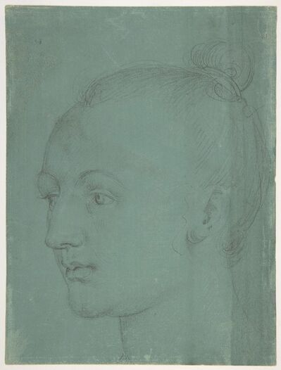 Albrecht Dürer, 'Head of a Young Woman', 1522