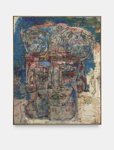 Daniel Crews-Chubb, 'Head with Serpents and Drummer (blue)', 2020