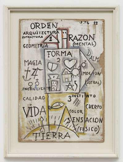 Joaquín Torres-García, 'Composicion cosmica con hombre abstracto', 1933