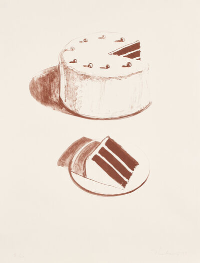Wayne Thiebaud, 'Chocolate Cake, from Seven Still Lifes and a Rabbit', 1970-71