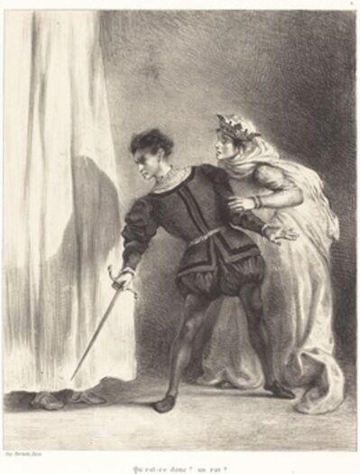 Eugène Delacroix, 'The Murder of Polonius (Act III, Scene IV)', 1834/1843