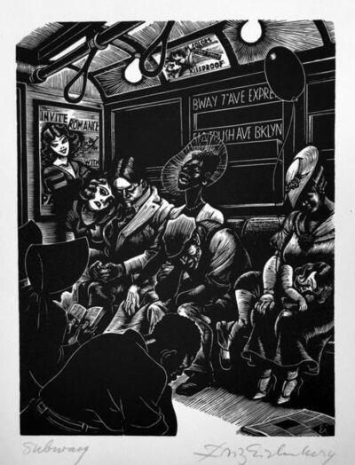 Fritz Eichenberg, 'Subway', 1934