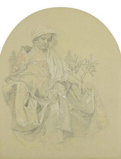 Alphonse Mucha, 'Allegory for the New Republic : Maquette', ca. 1925