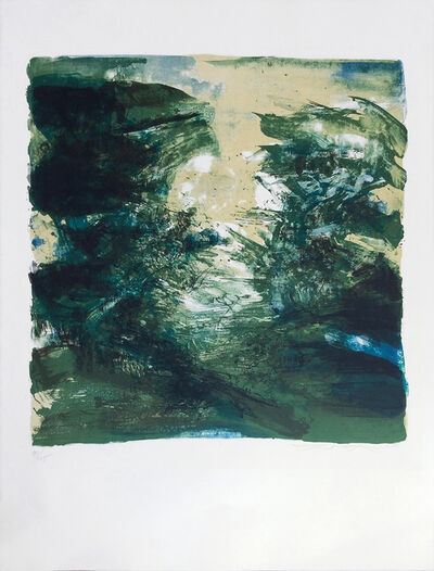 Zao Wou-Ki 趙無極, 'Composition verte', 1970