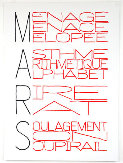 Delphine Coindet, 'Calendrier Anarchiste (Mars)', 2013