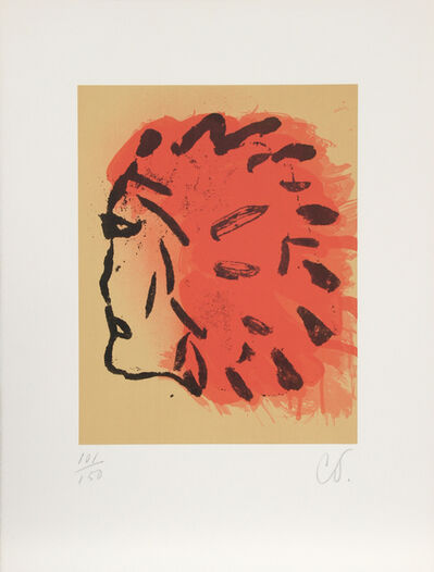 Claes Oldenburg, 'Indian Head from Peace Portfolio', 1972