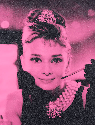 Russell Young, 'Hepburn (Electric Pink and Black) AI2016', 2017
