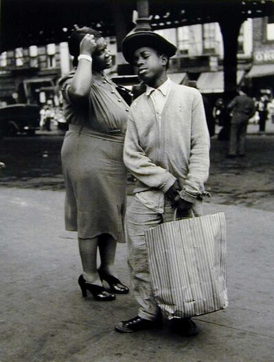 Morris Engel, 'Mother & Son Shopping, Ninth Ave., NYC', 1938