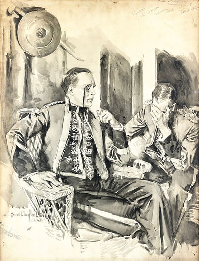 Howard Chandler Christy, 'He sat opposite the distorted figure', 1922