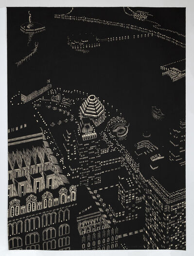 Yvonne Jacquette, 'New York Harbor Composite, Woodcut', 2003