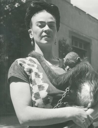 Fritz Henle, 'Frida in Front of Studio with Monkey, Coyoacan', 1946